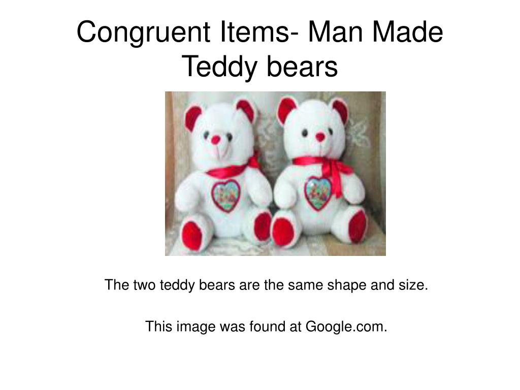 Congruent Items- Man Made