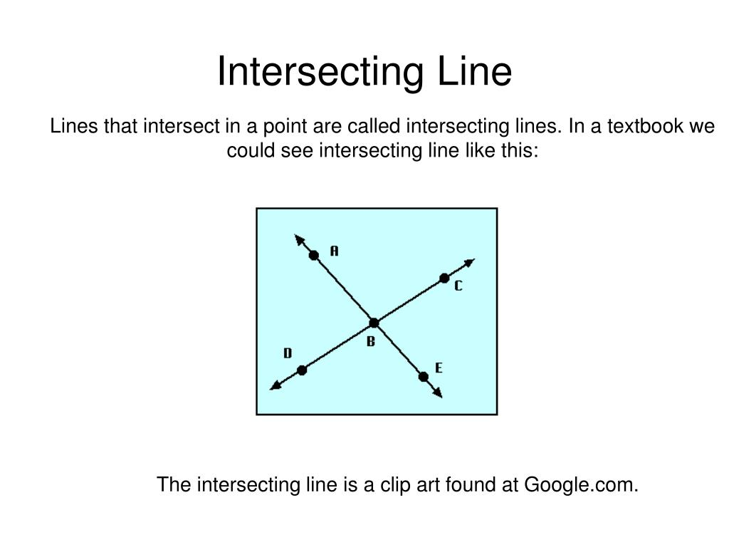 Intersecting Line