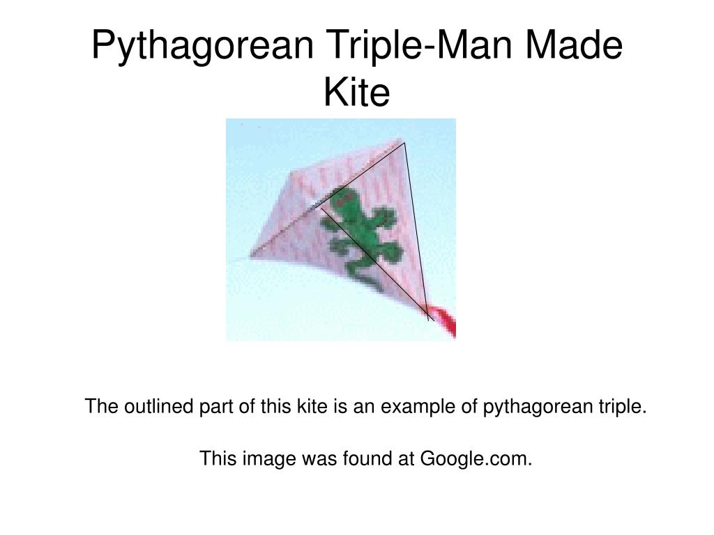 Pythagorean Triple-Man Made