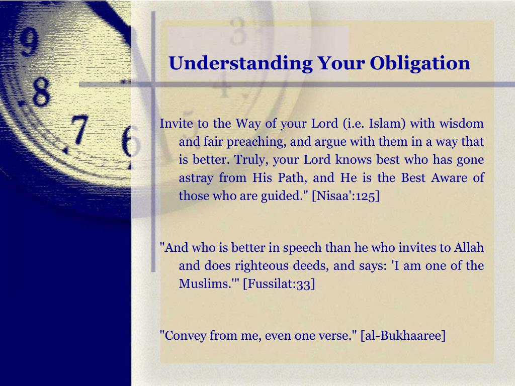 Understanding Your Obligation
