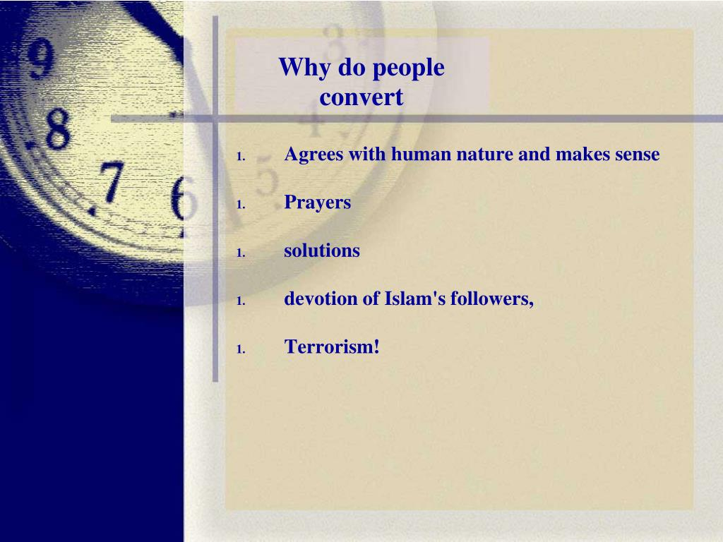 Why do people convert