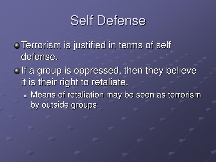 self defence and terrorism By nicolas boeglin professor of international law, law faculty, universidad de  costa rica (ucr) a collective open letter signed by a great.