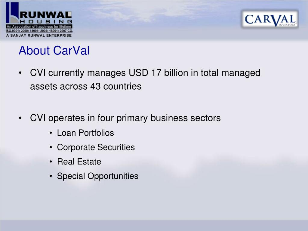 About CarVal