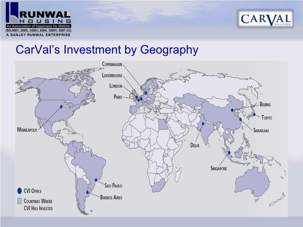 CarVal's Investment by Geography