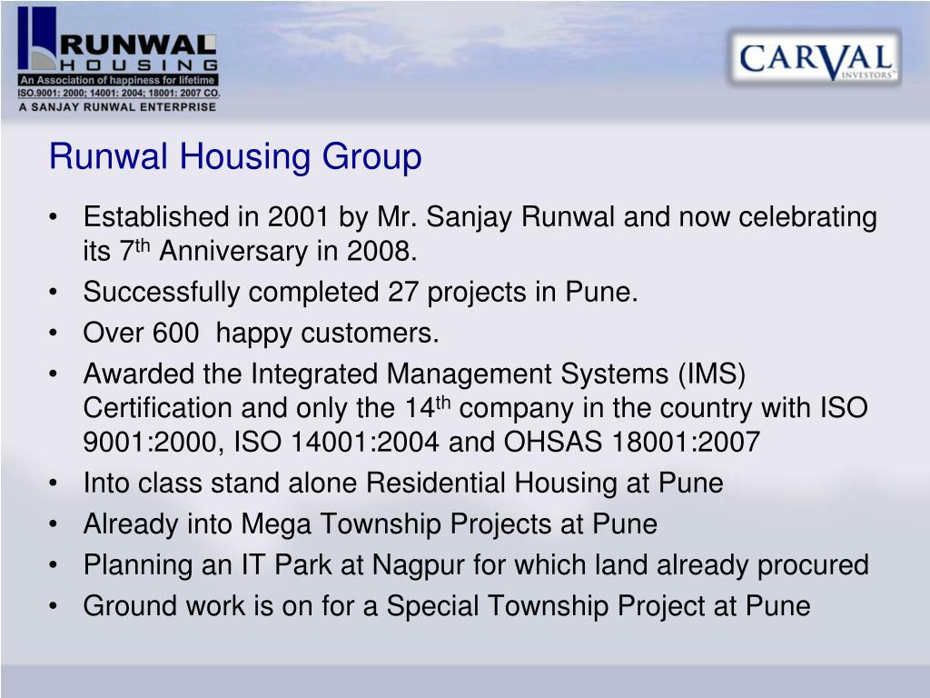 Runwal Housing Group