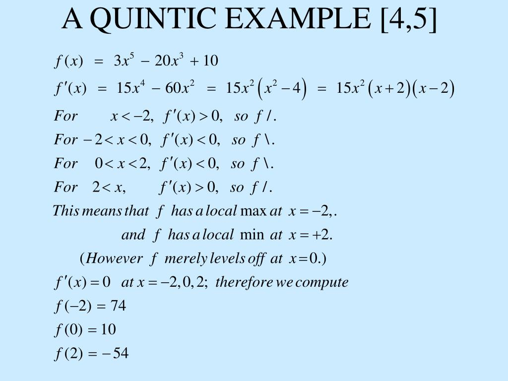 A QUINTIC EXAMPLE [4,5]