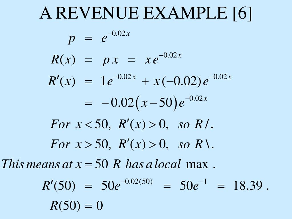 A REVENUE EXAMPLE [6]