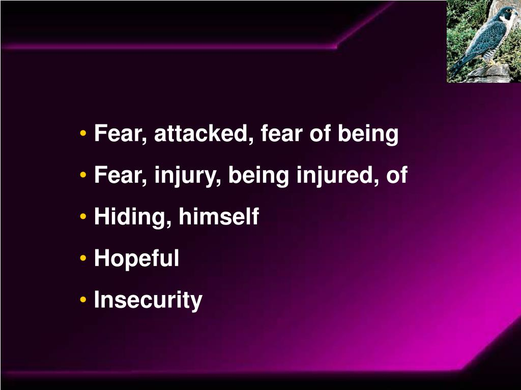 Fear, attacked, fear of being