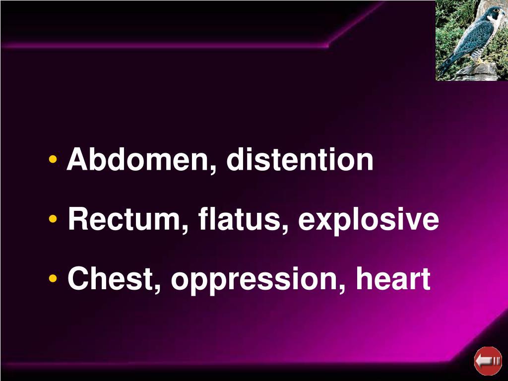 Abdomen, distention
