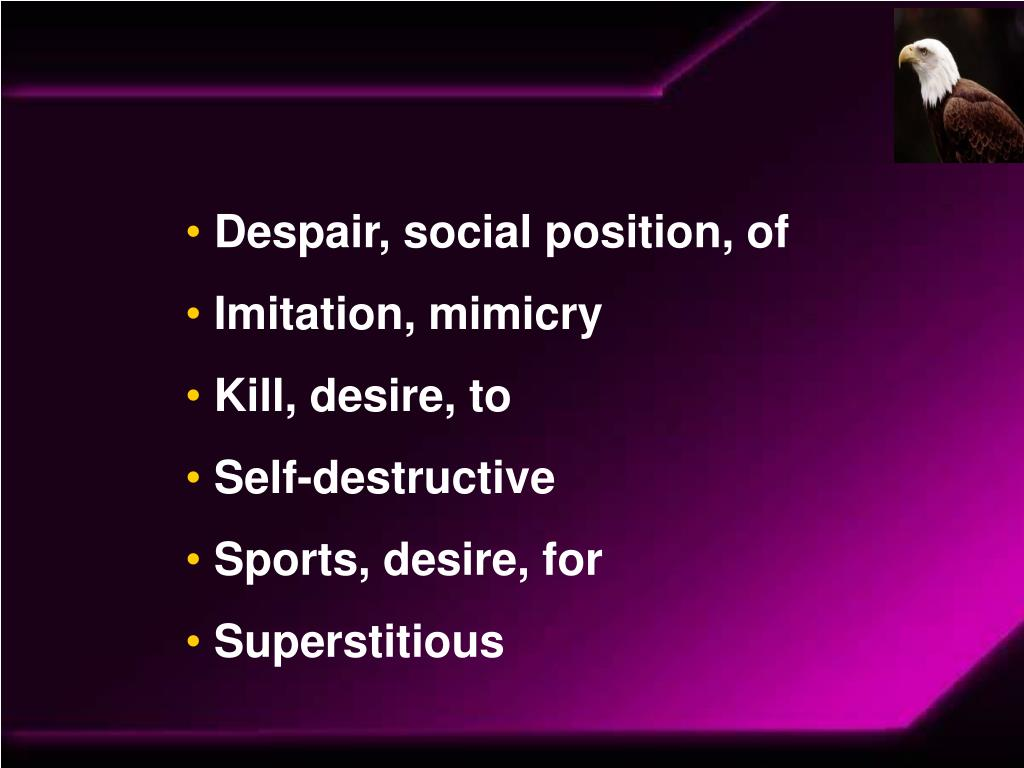 Despair, social position, of