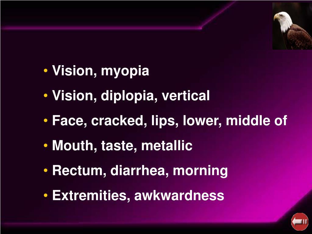 Vision, myopia