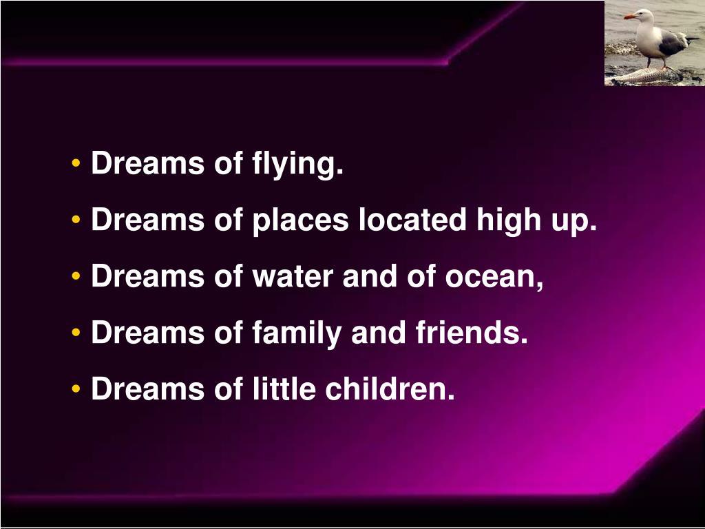 Dreams of flying.
