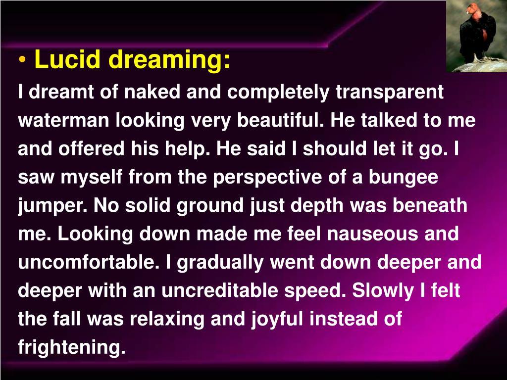 Lucid dreaming: