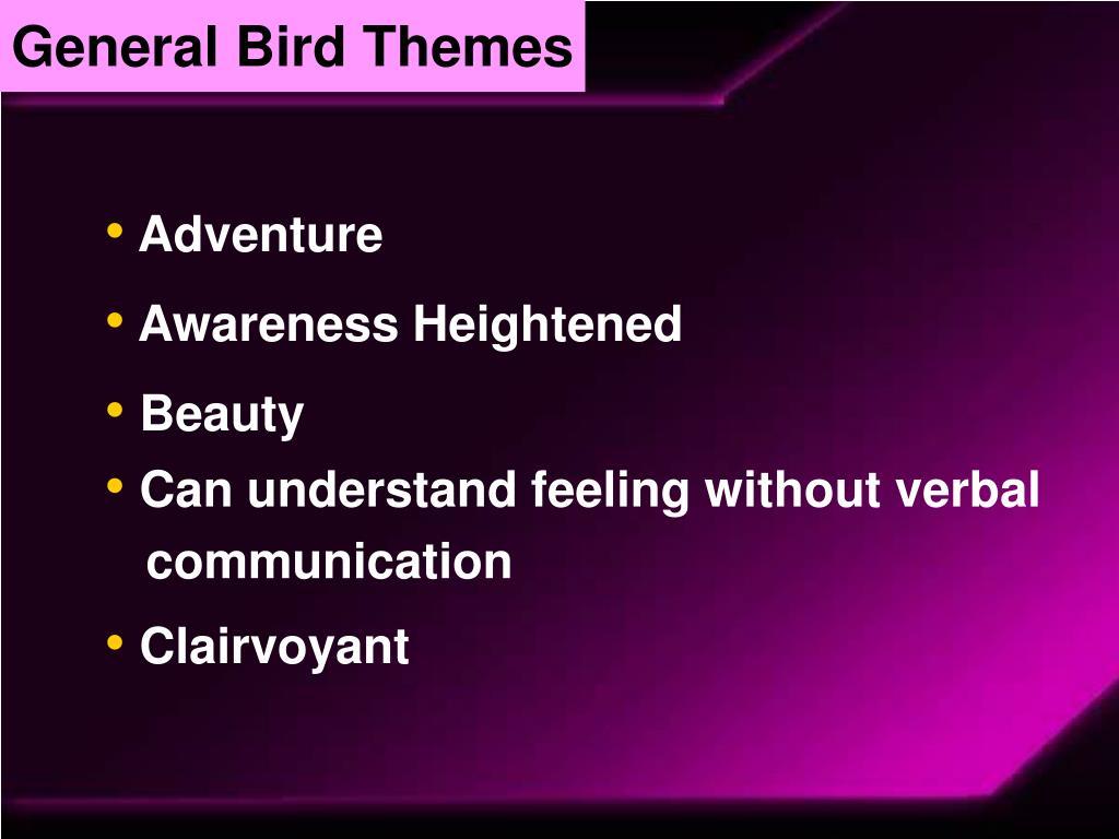 General Bird Themes
