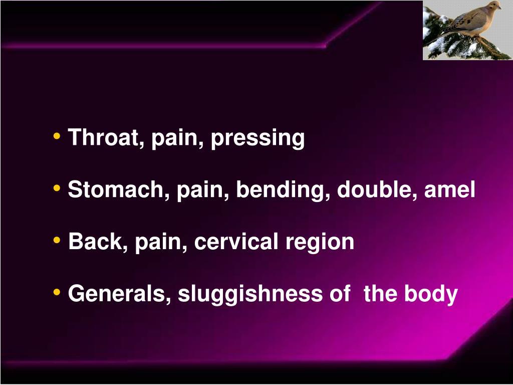 Throat, pain, pressing