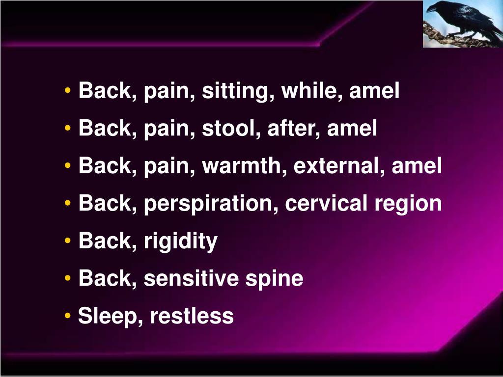 Back, pain, sitting, while, amel