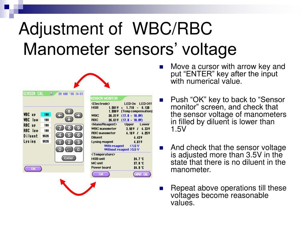 Adjustment of  WBC/RBC