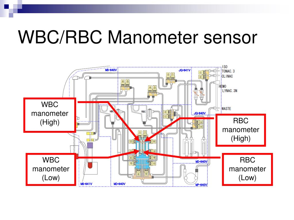 WBC/RBC Manometer sensor