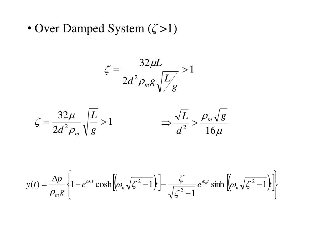 Over Damped System (