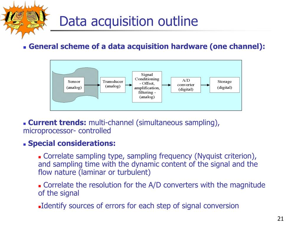 Data acquisition outline