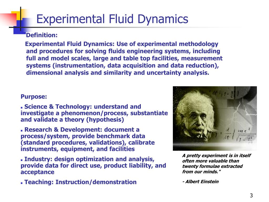 Experimental Fluid Dynamics