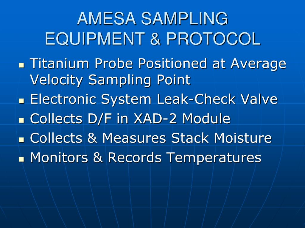 AMESA SAMPLING