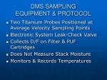 dms sampling equipment protocol