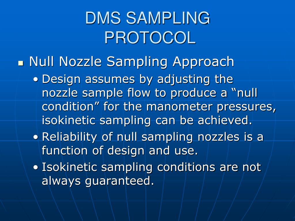 DMS SAMPLING