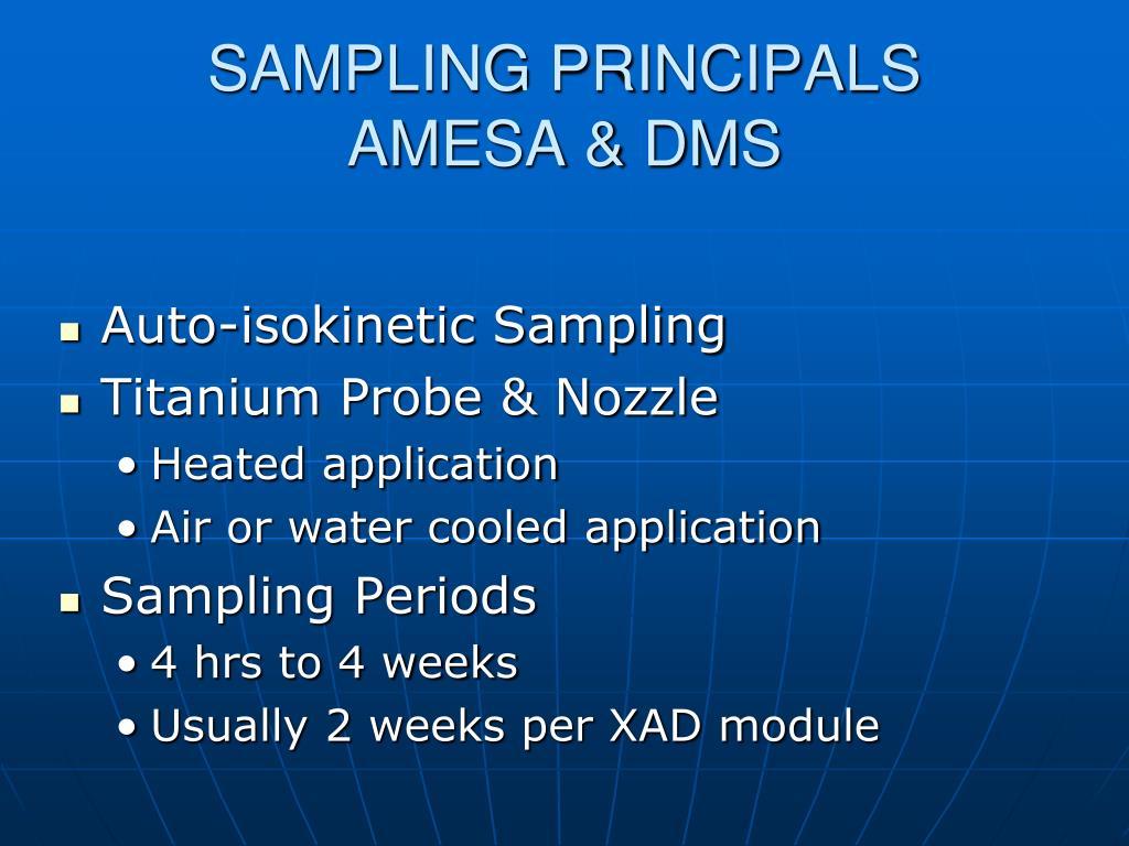SAMPLING PRINCIPALS