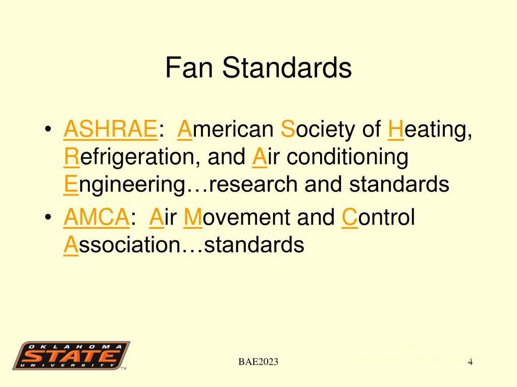 Fan Standards