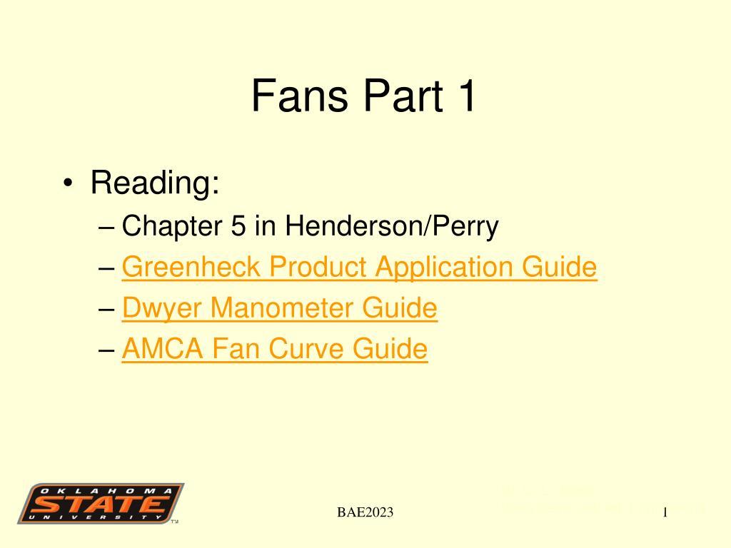 Fans Part 1