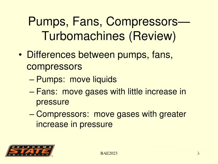 Pumps fans compressors turbomachines review
