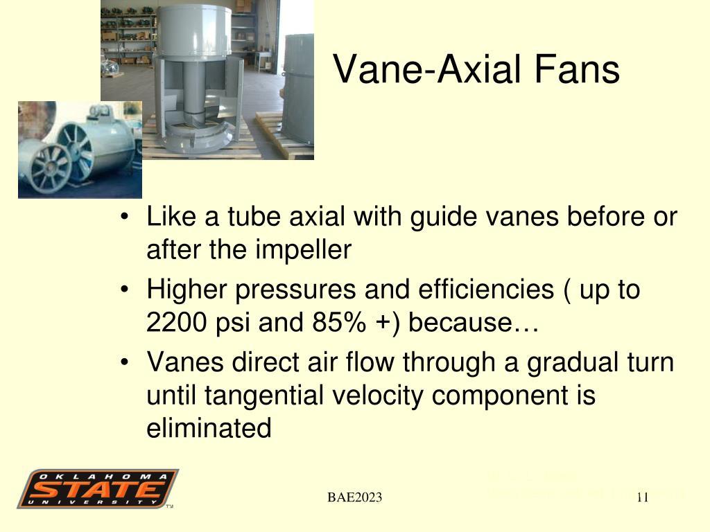 Vane-Axial Fans