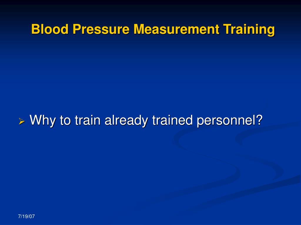Blood Pressure Measurement Training