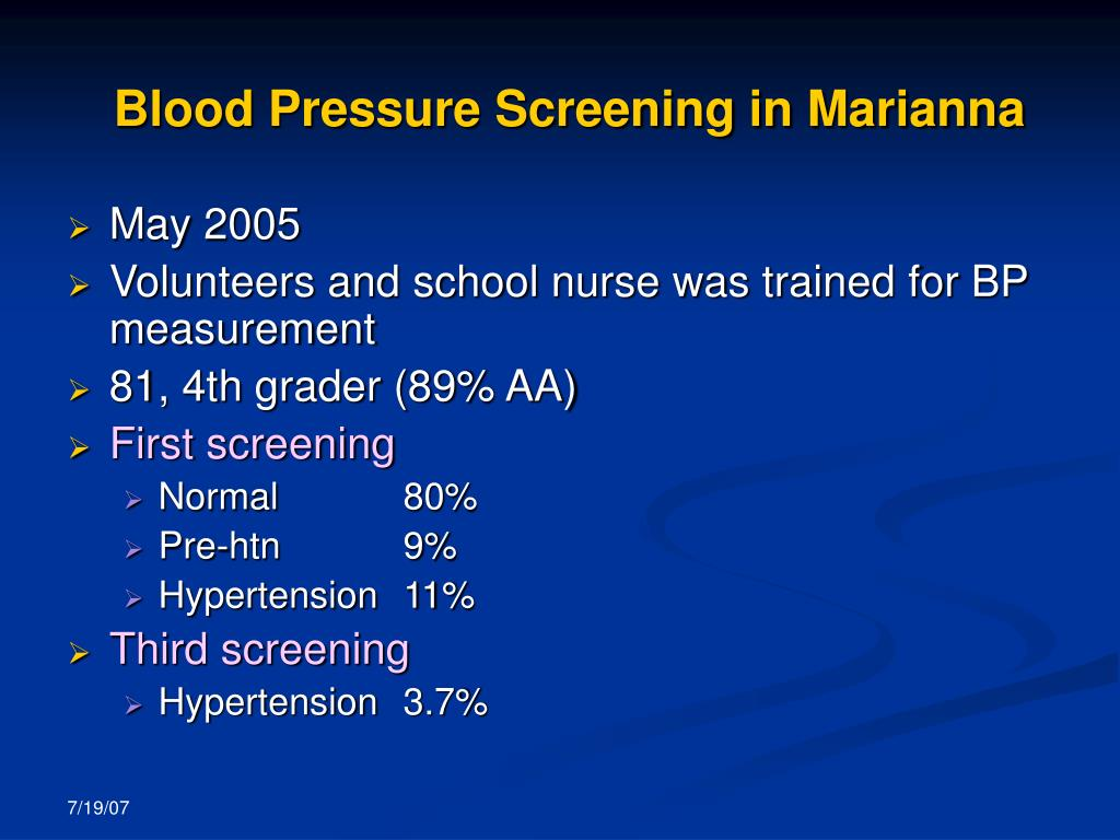 Blood Pressure Screening in Marianna