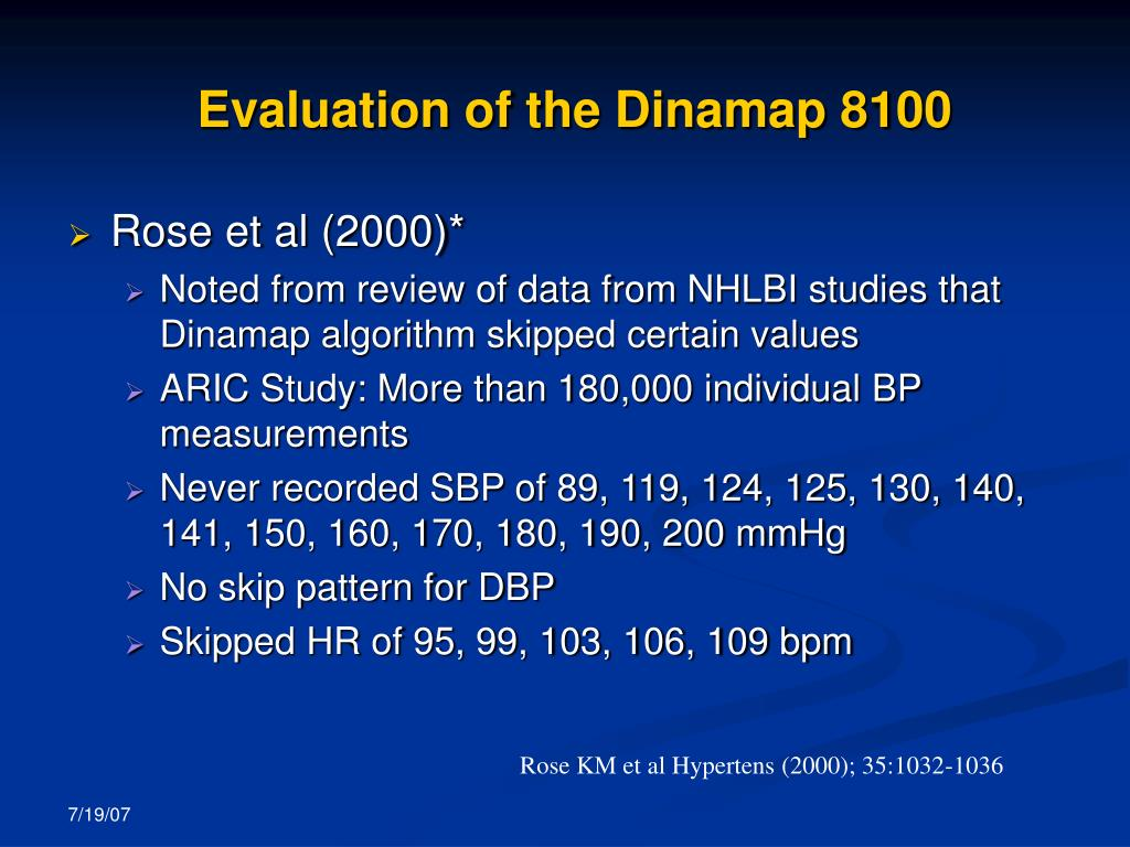 Evaluation of the Dinamap 8100