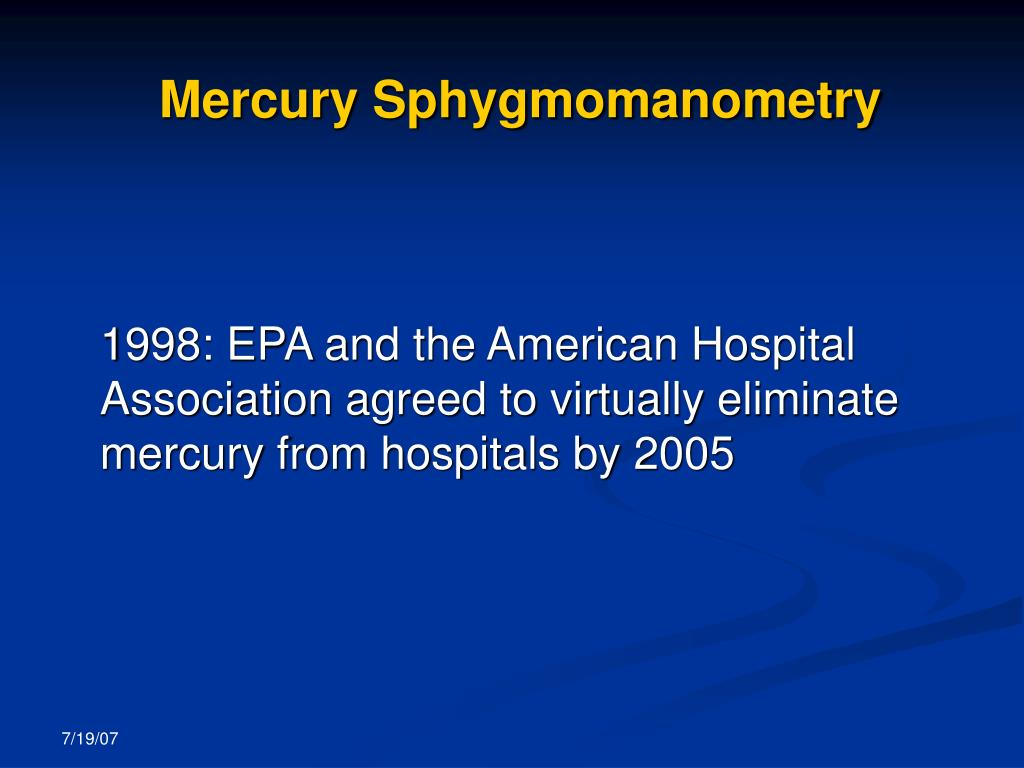 Mercury Sphygmomanometry