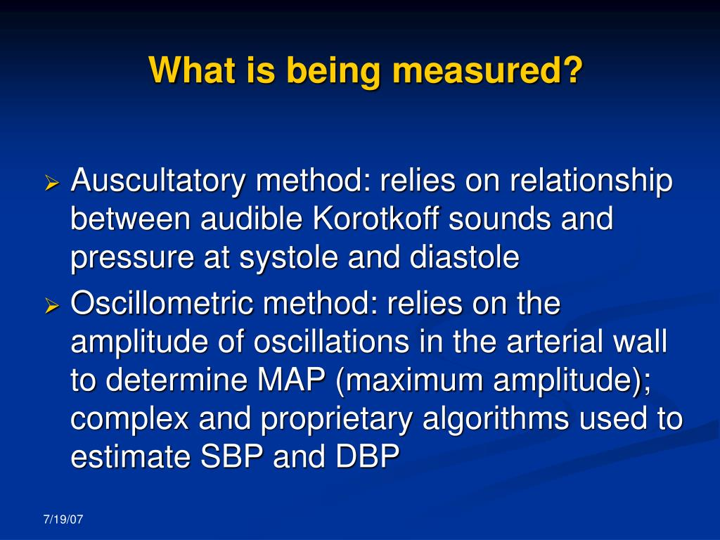 What is being measured?