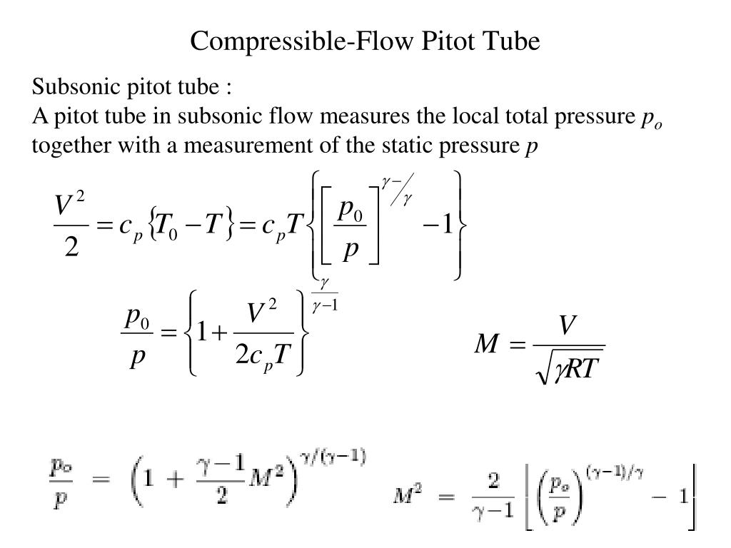 Compressible-Flow Pitot Tube