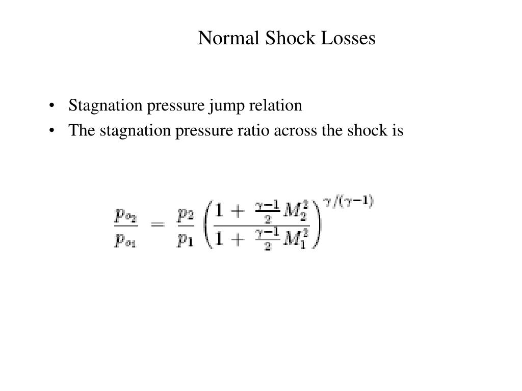 Normal Shock Losses