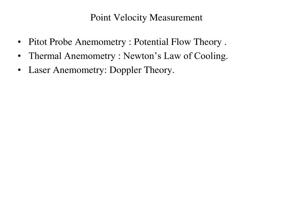 Point Velocity Measurement