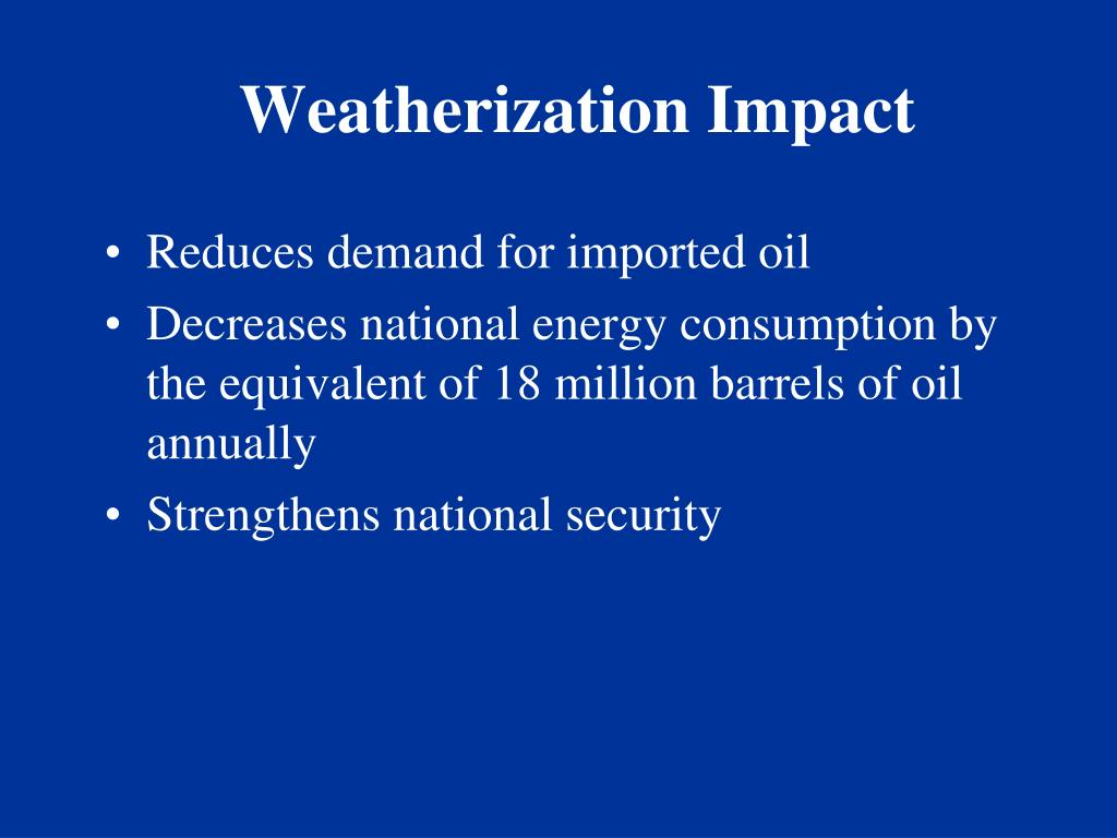 Weatherization Impact