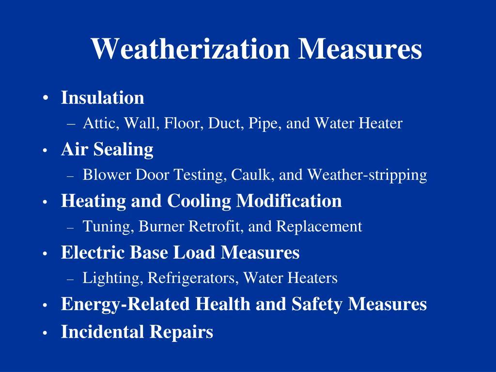 Weatherization Measures