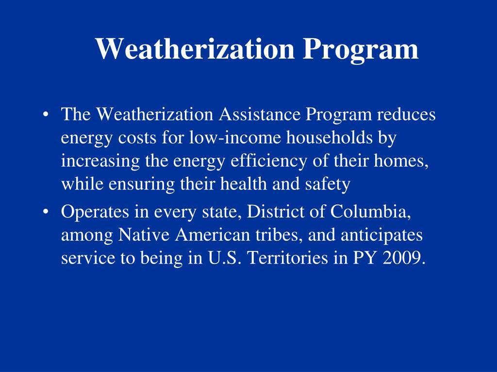 Weatherization Program