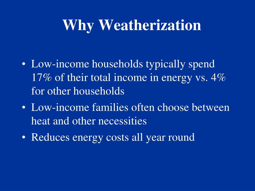 Why Weatherization
