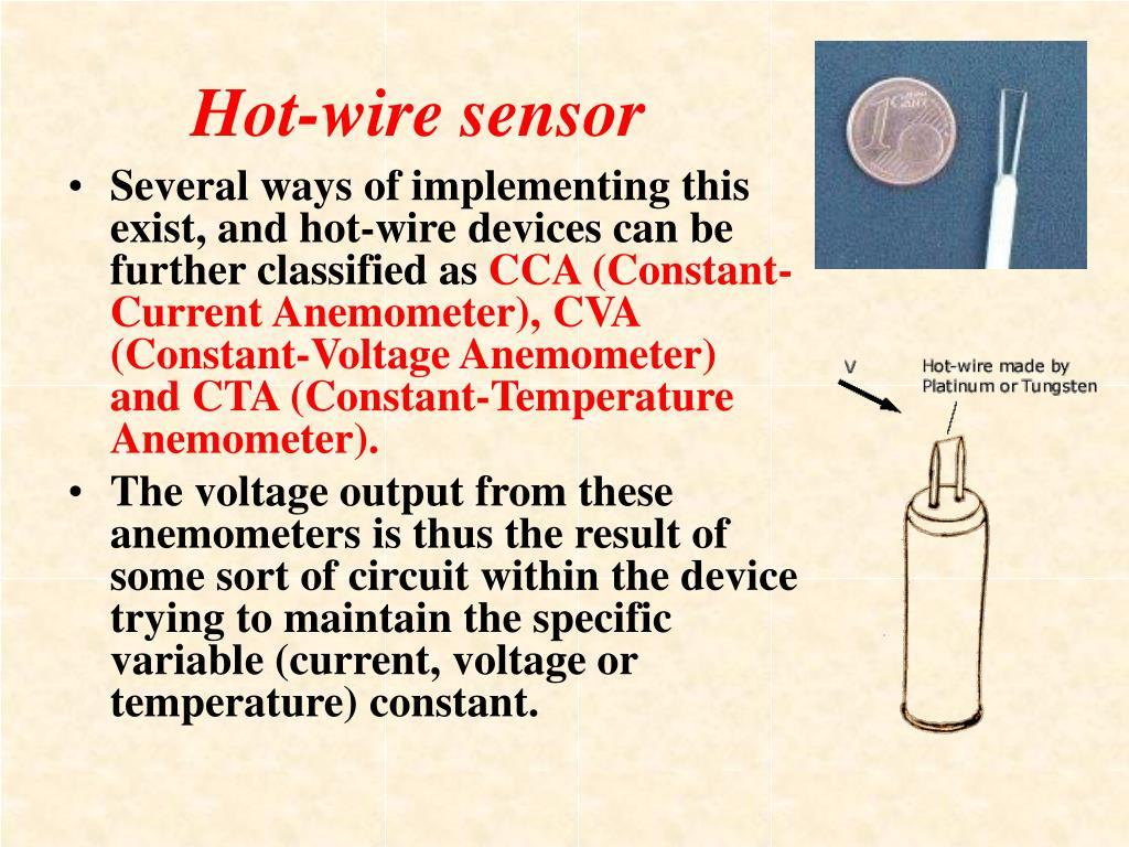 Hot-wire sensor