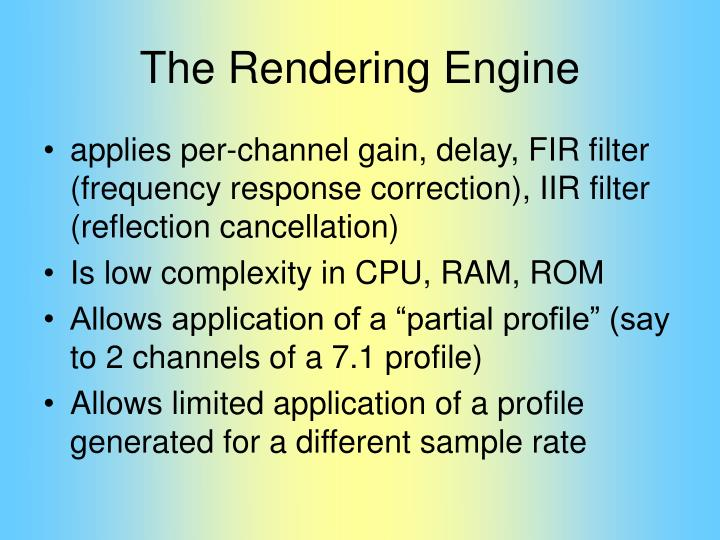 The Rendering Engine