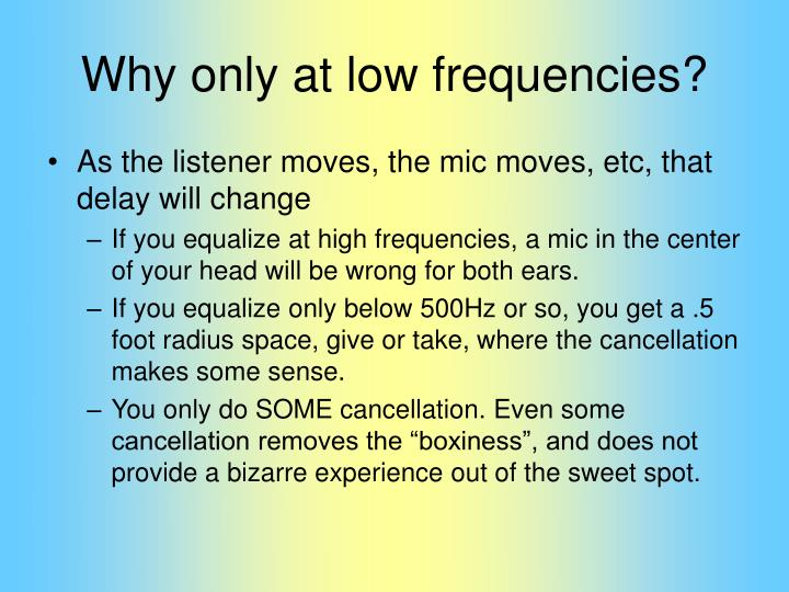 Why only at low frequencies?