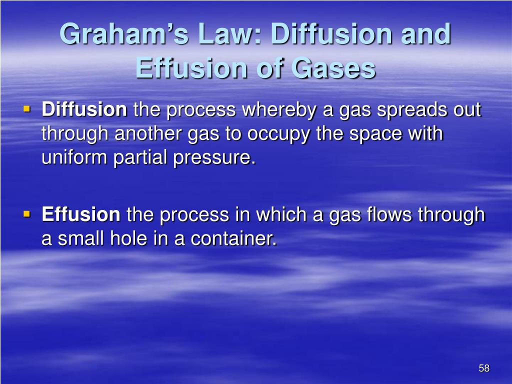 Graham's Law: Diffusion and Effusion of Gases