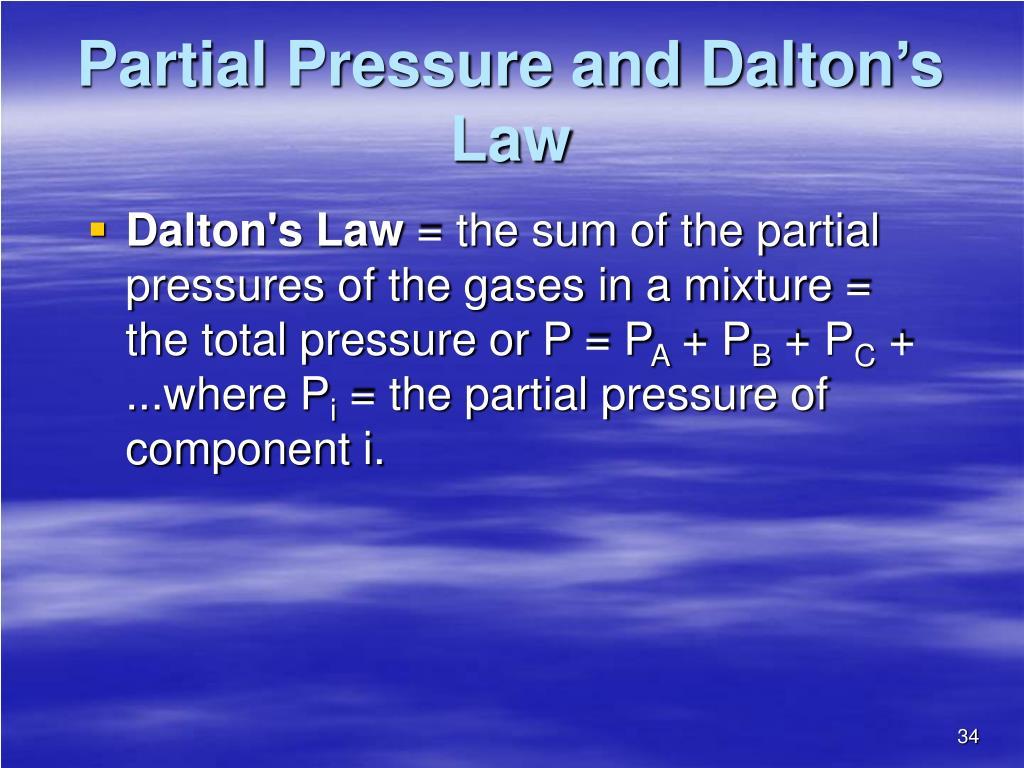 Partial Pressure and Dalton's Law